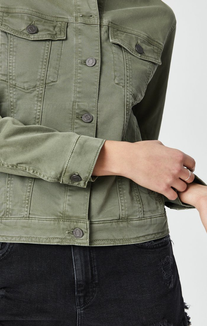 KATY JACKET IN KHAKI TWILL Image 5