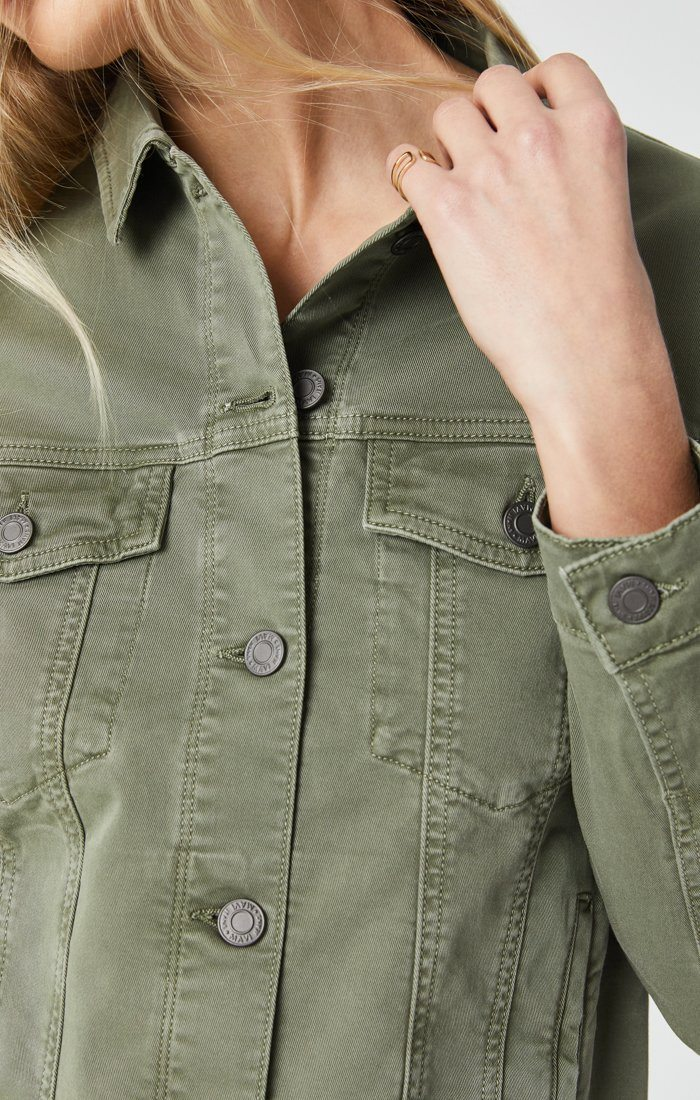 KATY JACKET IN KHAKI TWILL Image 7
