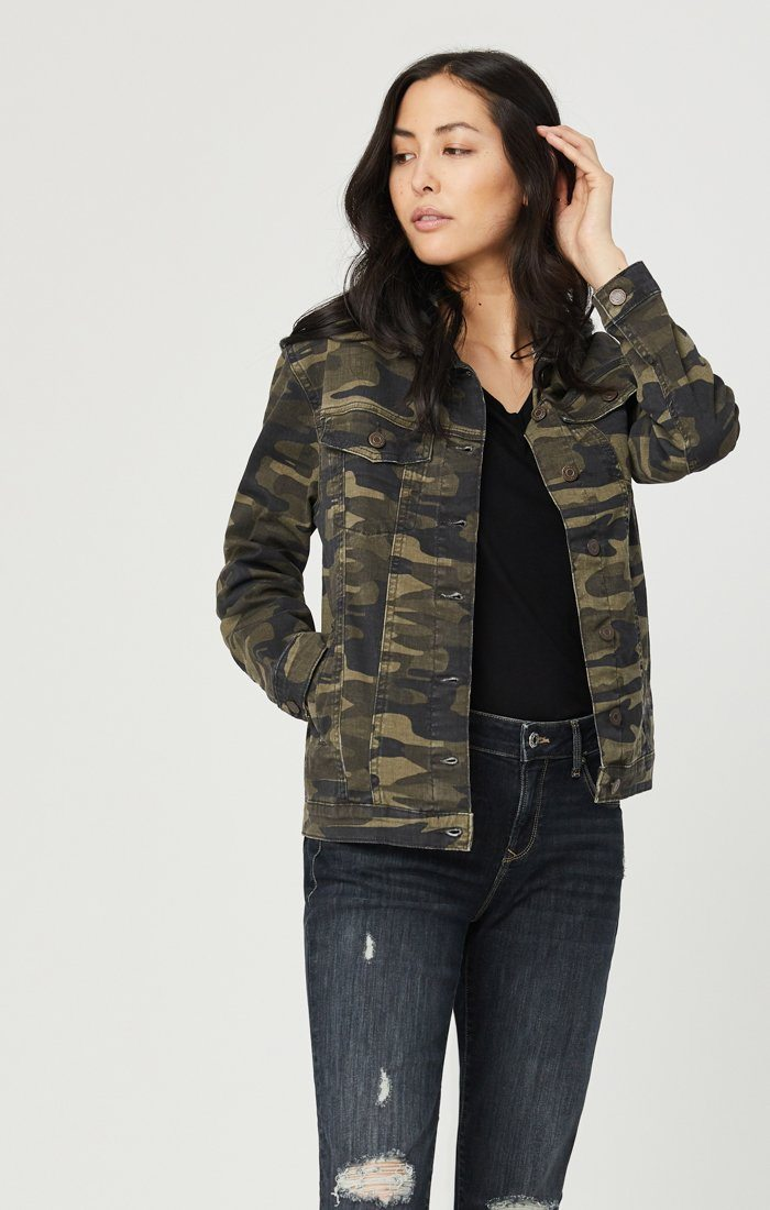 KARLA JACKET IN MILITARY CAMOUFLAGE Image 3