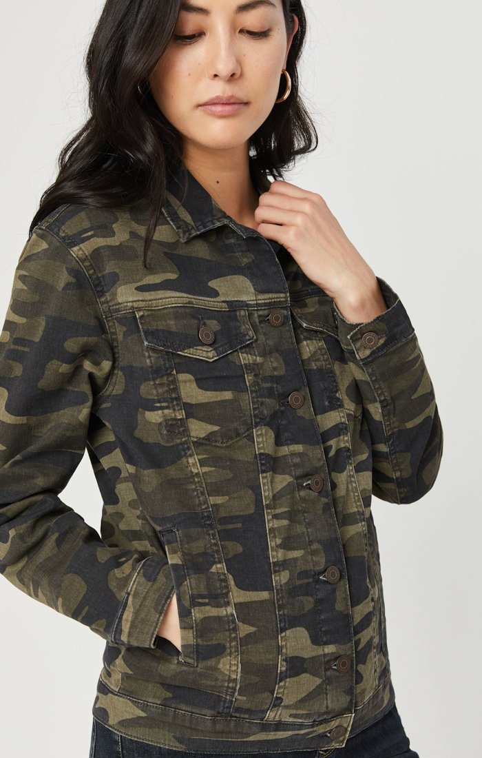 KARLA JACKET IN MILITARY CAMOUFLAGE Image 6