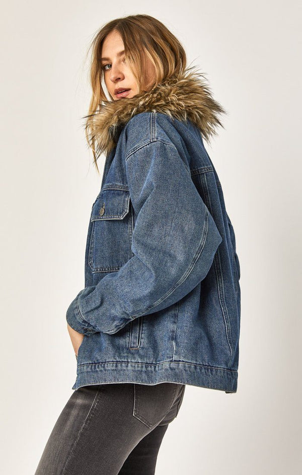 MARA JACKET IN INDIGO DENIM - Mavi Jeans