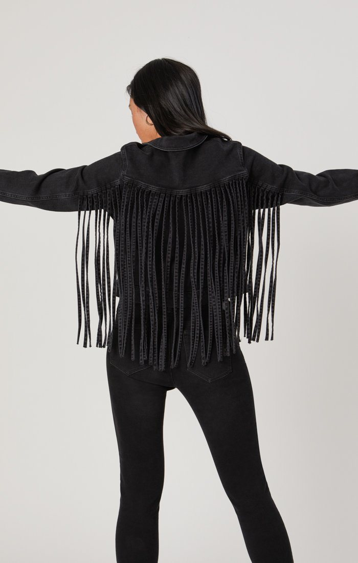 LUNA JACKET IN SMOKE FRINGE GOLD ICON Image 7