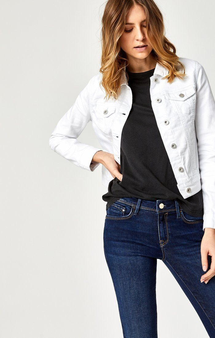 278855f5577 Mavi Women s Samantha Denim Jacket in White Nolita – Mavi Jeans