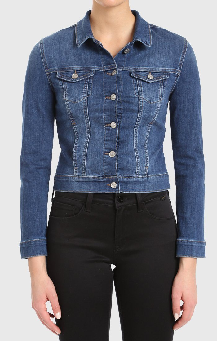 SAMANTHA JACKET IN DARK INDIGO TRIBECA