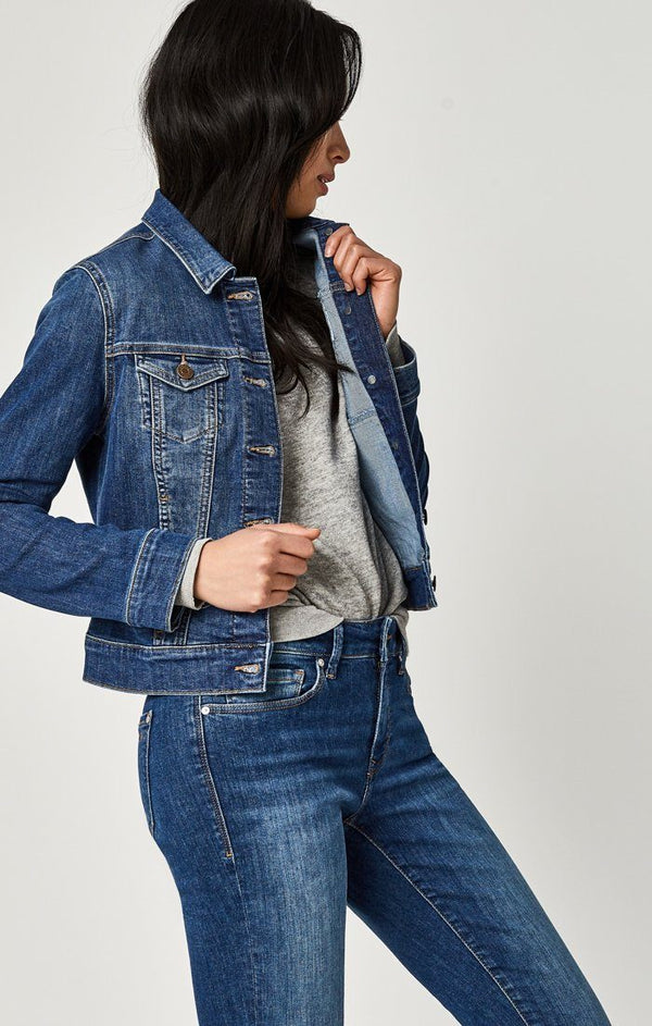 SAMANTHA JACKET IN MID SHADED STRETCH - Mavi Jeans