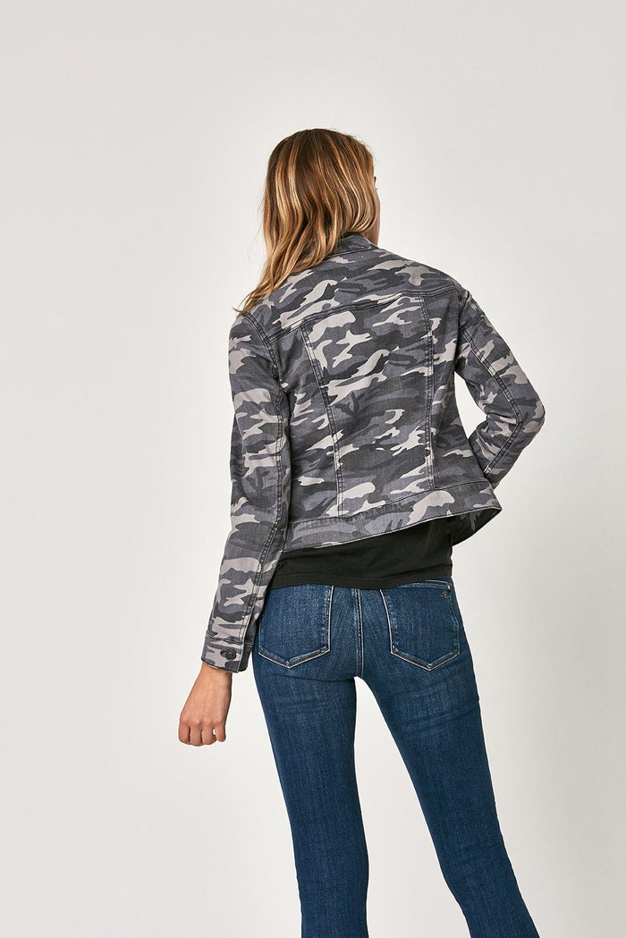 SAMANTHA JACKET IN GREY CAMO STR - Mavi Jeans