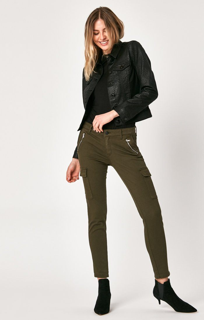 SAMANTHA JACKET IN BLACK SNAKE - Mavi Jeans