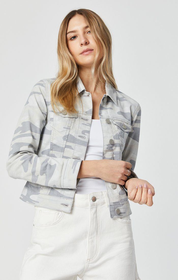 SAMANTHA JACKET IN GREY CAMO Image 5