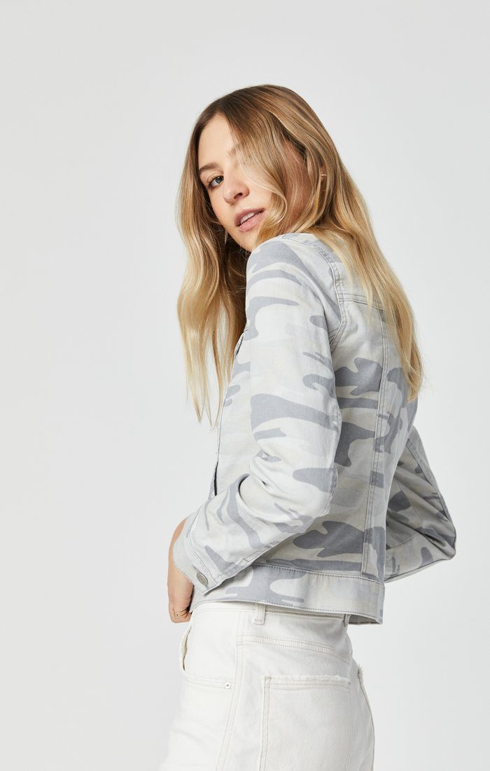 SAMANTHA JACKET IN GREY CAMO Image 2