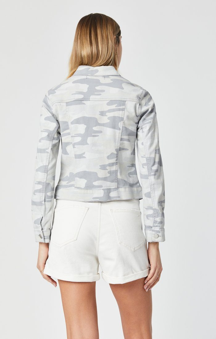 SAMANTHA JACKET IN GREY CAMO Image 6