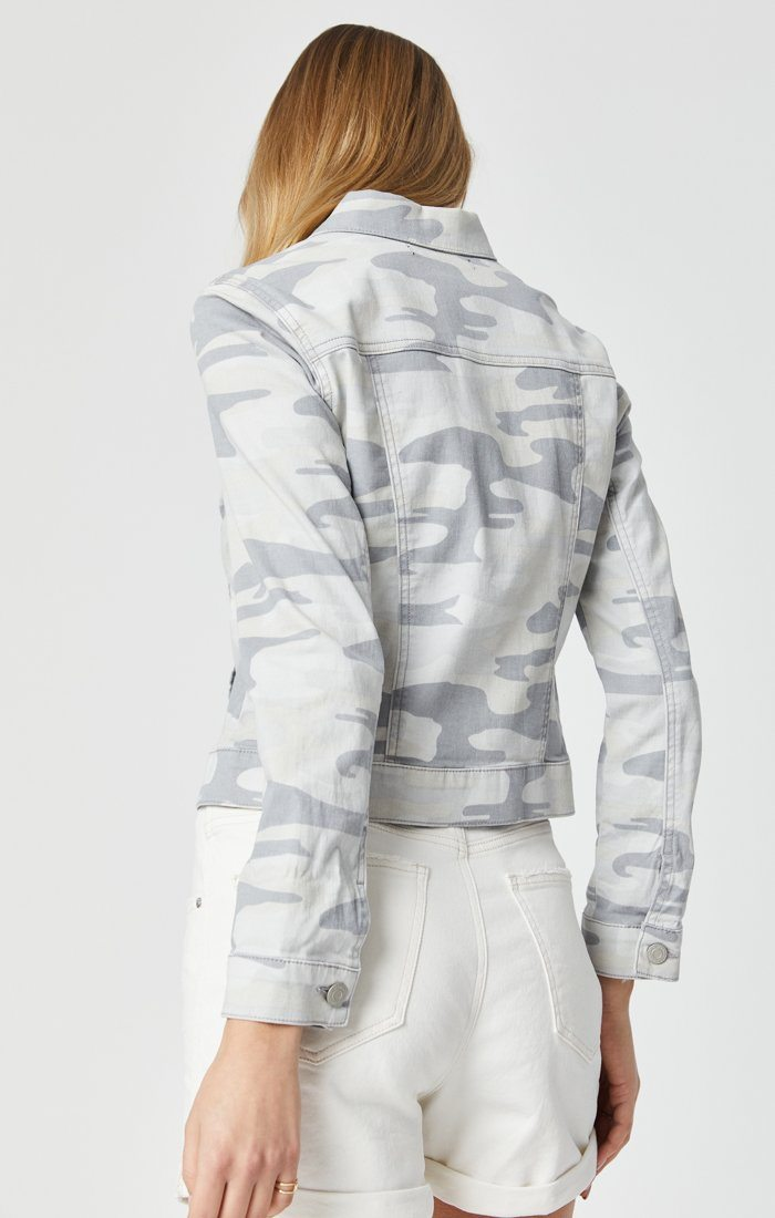 SAMANTHA JACKET IN GREY CAMO Image 8