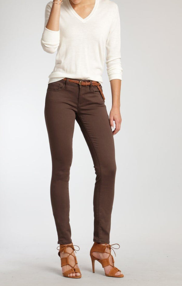 ALEXA SKINNY IN CHOCOLATE BROWN GOLD SATEEN - Mavi Jeans