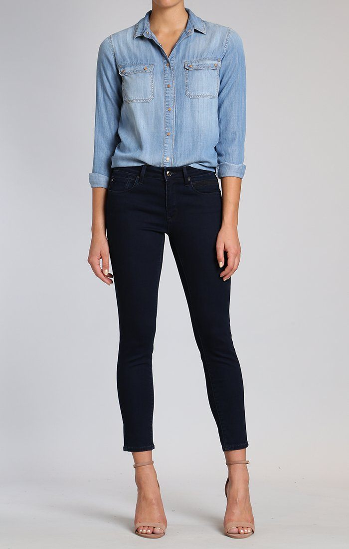 SAMMY SHIRT IN INDIGO GOLD SHIRTING - Mavi Jeans