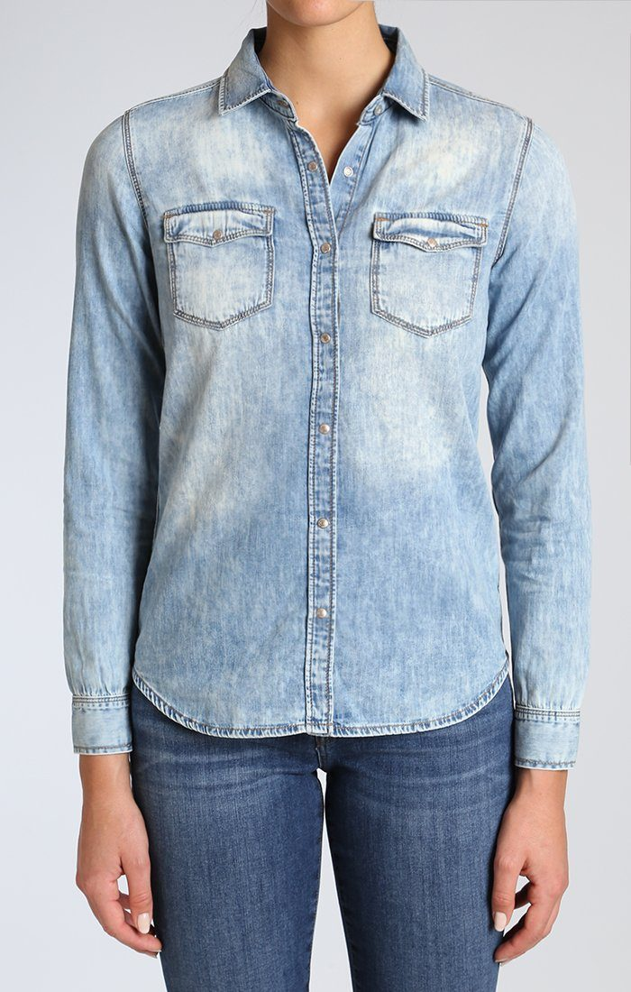 ISABEL SHIRT IN SHADED DENIM - Mavi Jeans