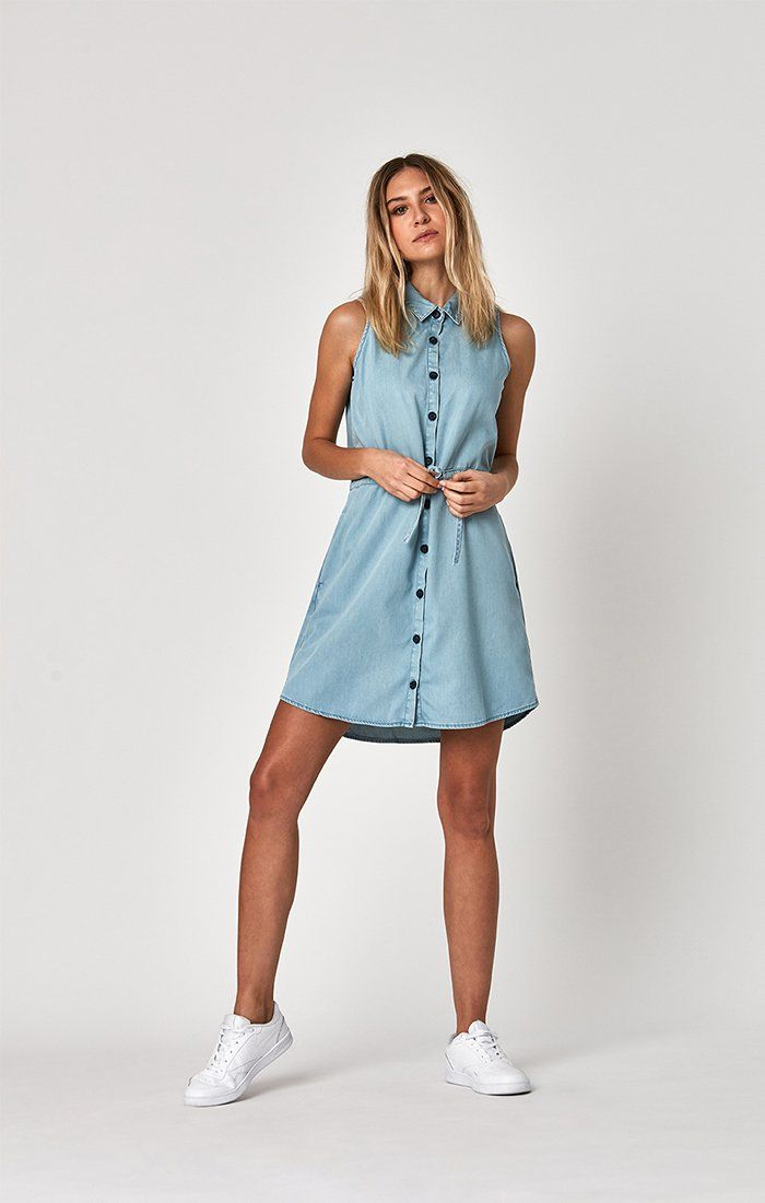 TALIA DRESS IN LT SUMMER DENIM - Mavi Jeans