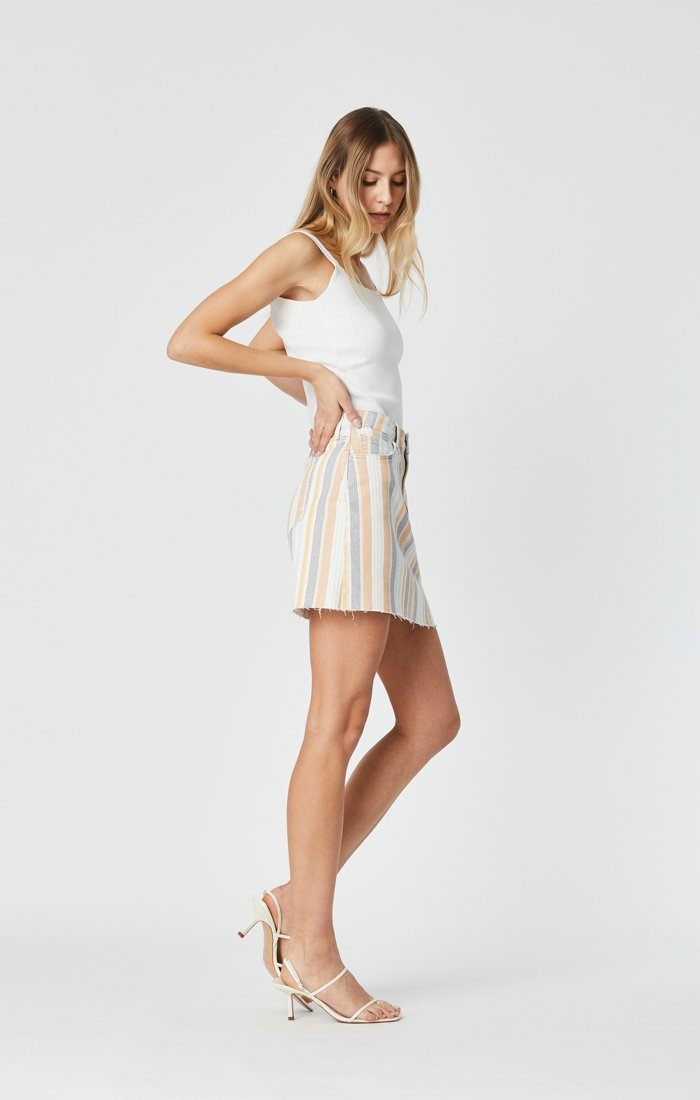 LINDSAY SKIRT IN SPRING STRIPE STRETCH Image 6