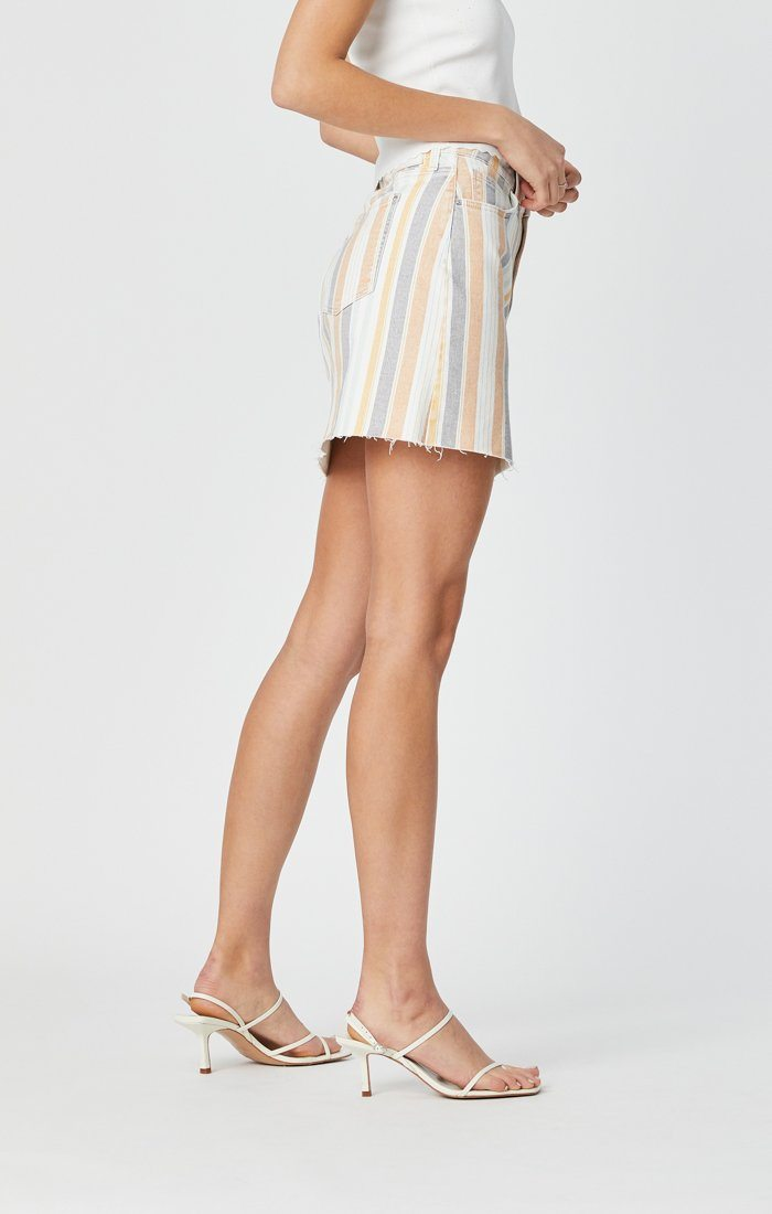 LINDSAY SKIRT IN SPRING STRIPE STRETCH Image 5