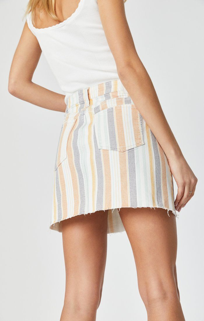 LINDSAY SKIRT IN SPRING STRIPE STRETCH Image 7