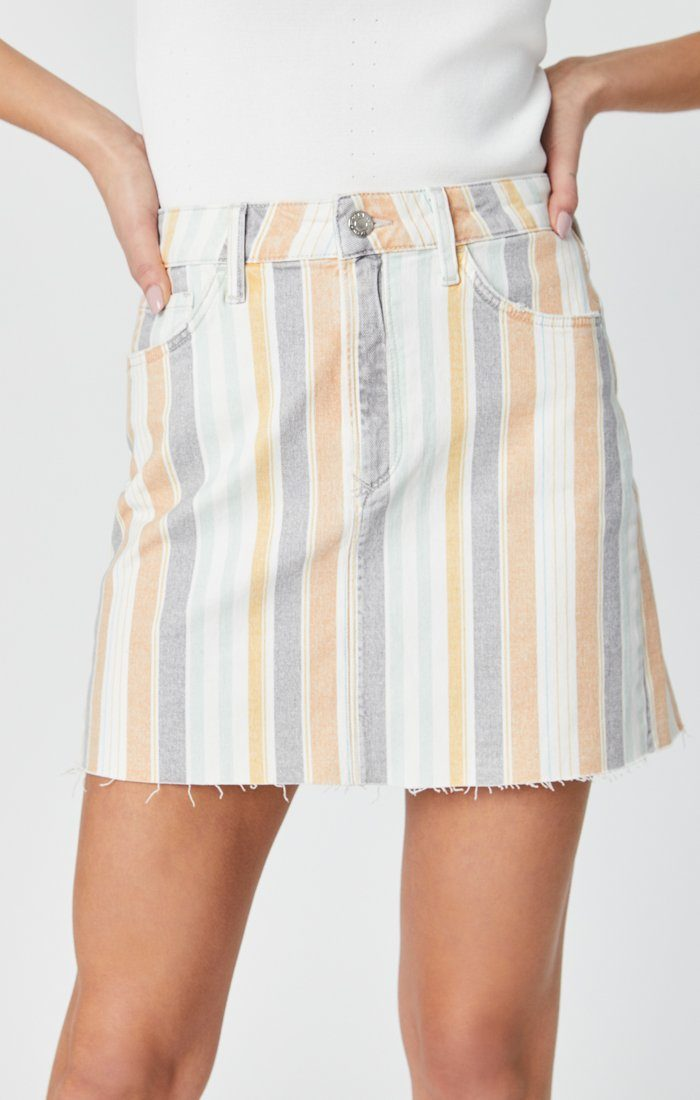 LINDSAY SKIRT IN SPRING STRIPE STRETCH Image 8