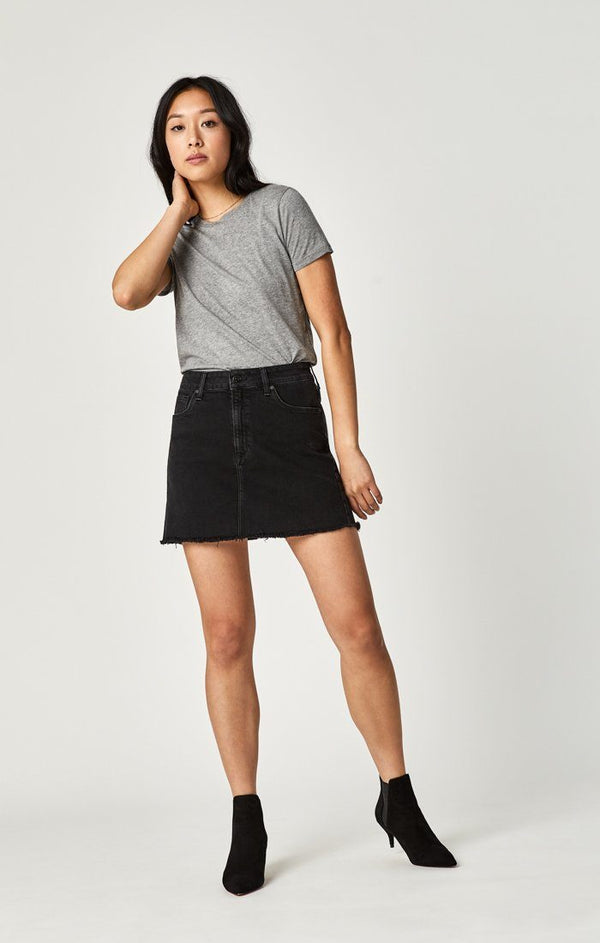 LINDSAY A-LINE SKIRT IN SMOKE STR - Mavi Jeans