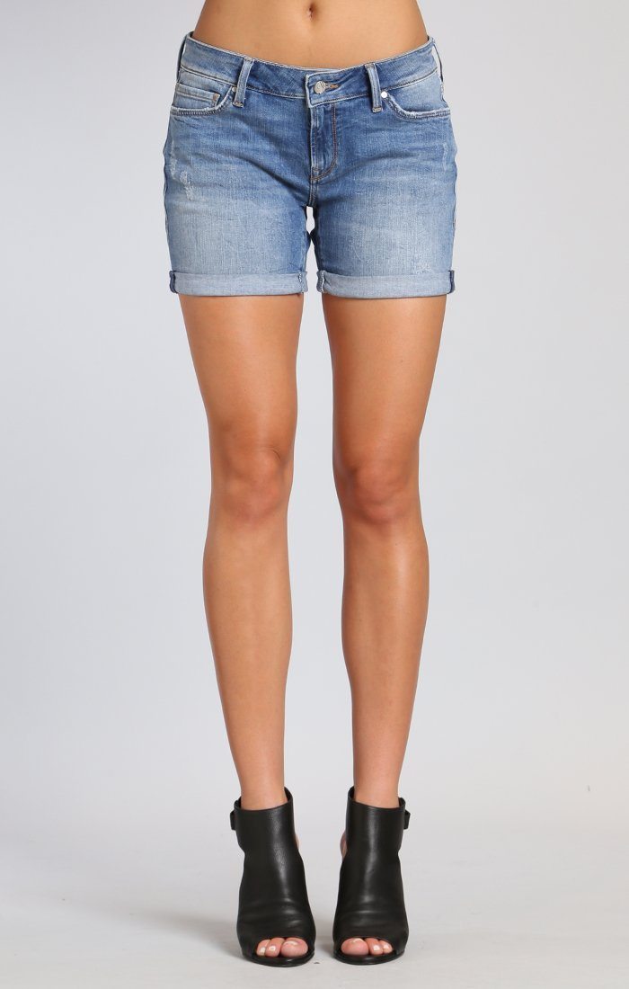 PIXIE SHORTS IN LT  DISTRESSED VINTAGE - Mavi Jeans