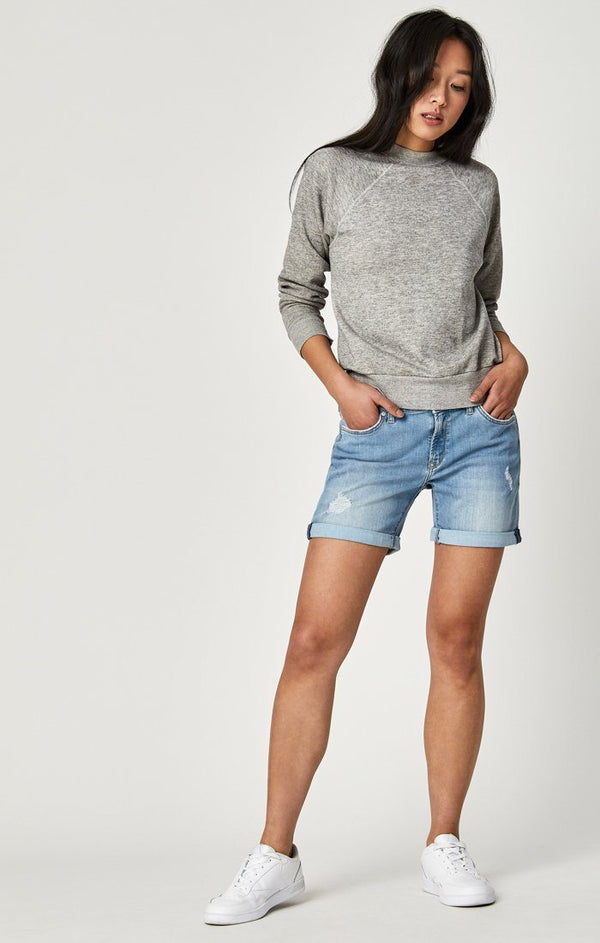 PIXIE SHORTS IN LT RIPPED VINTAGE - Mavi Jeans