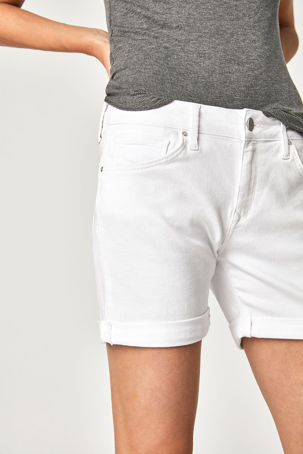 PIXIE SHORTS IN WHITE TRIBECA Image 2