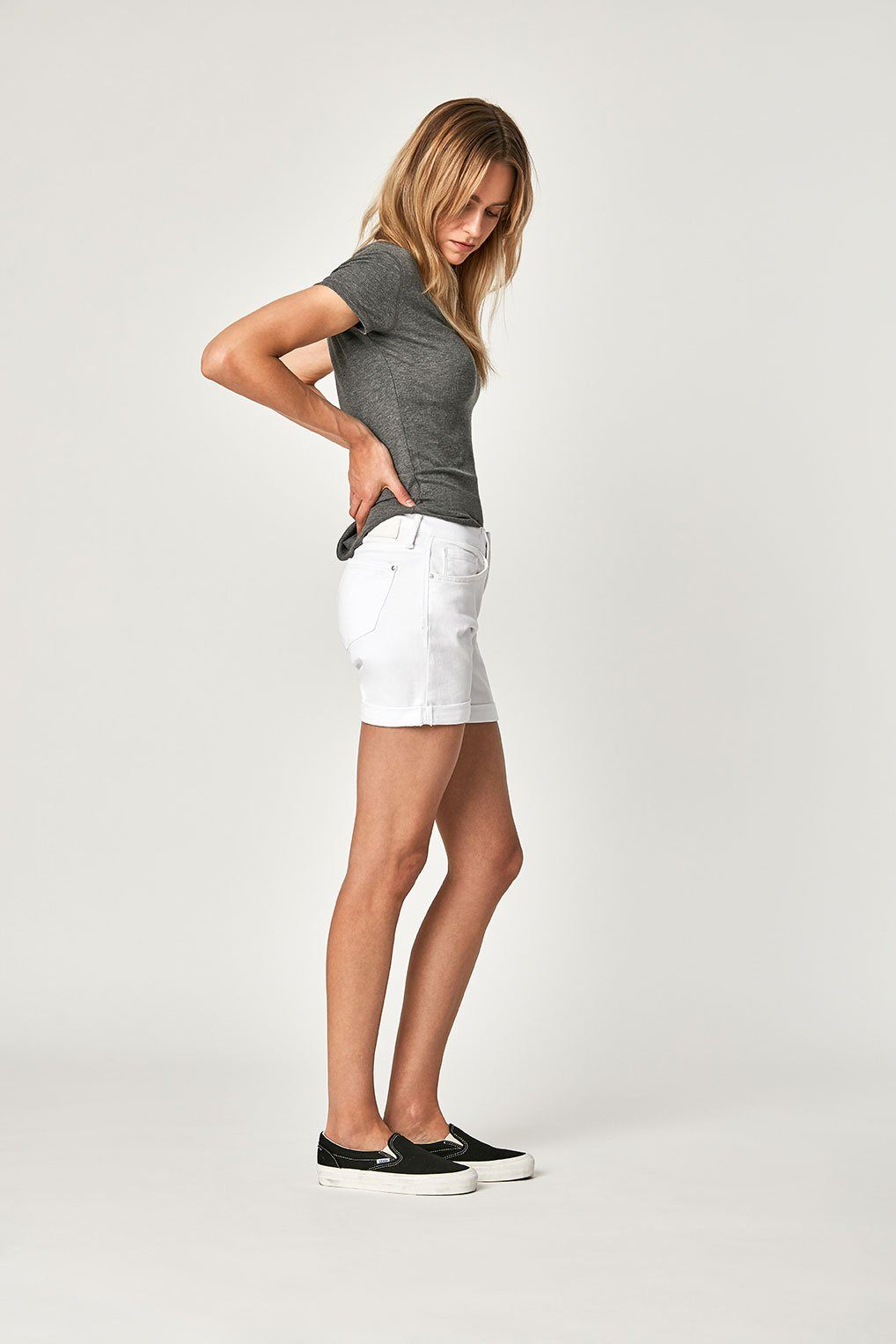 PIXIE SHORTS IN WHITE TRIBECA Image 3
