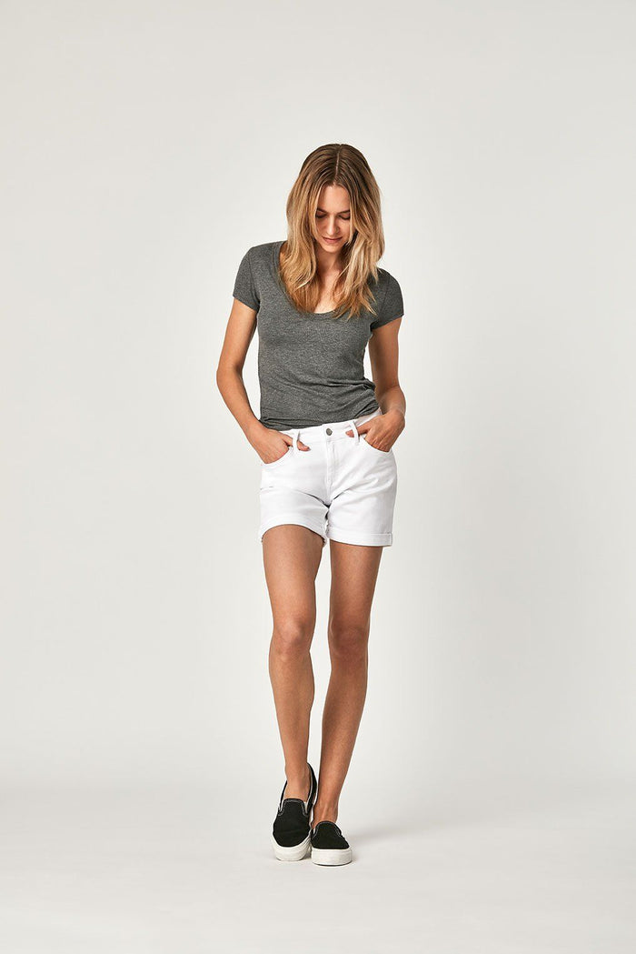 PIXIE SHORTS IN WHITE TRIBECA - Mavi Jeans
