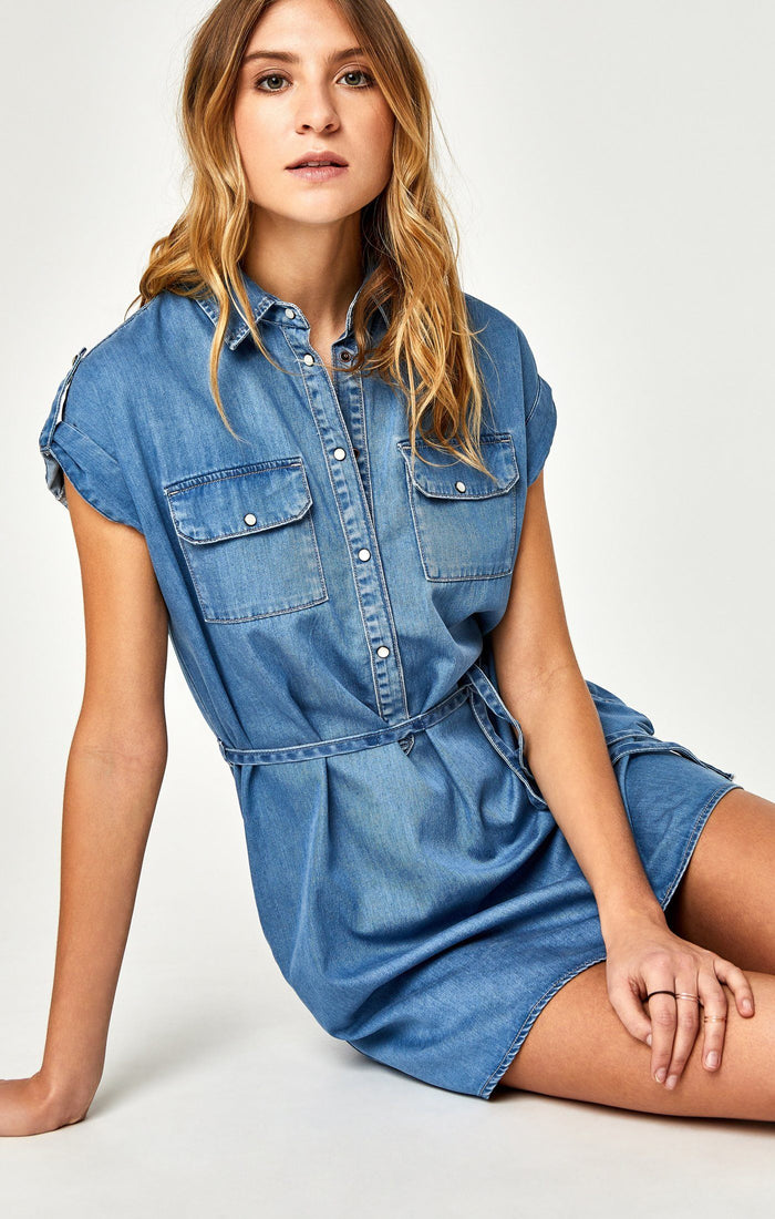 BARBARA DRESS IN LIGHT DENIM - Mavi Jeans