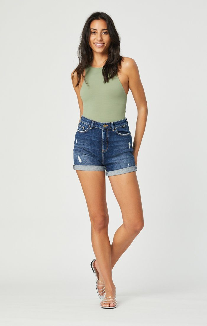 ELLA SHORTS IN DARK BRUSHED VINTAGE Image 1