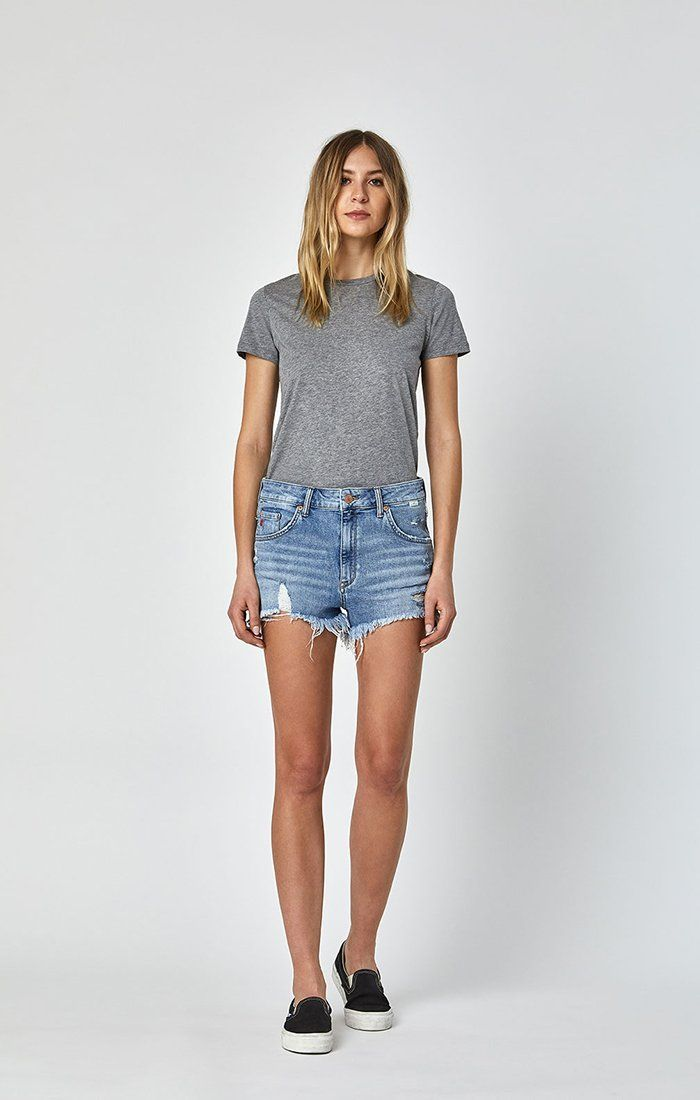 ROSIE SHORTS IN MID RETRO 80'S - Mavi Jeans