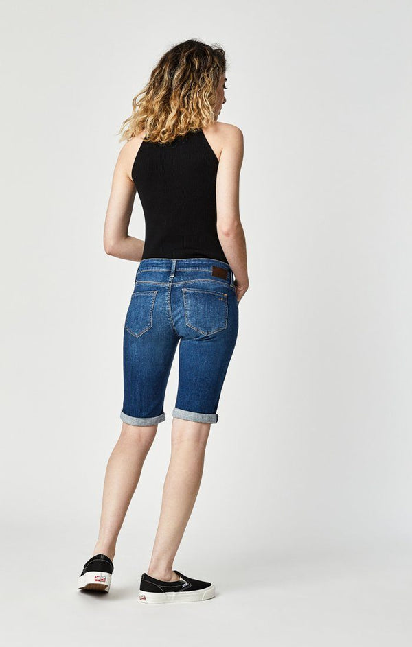 KARLY SHORTS IN INDIGO SHADED TRIBECA - Mavi Jeans