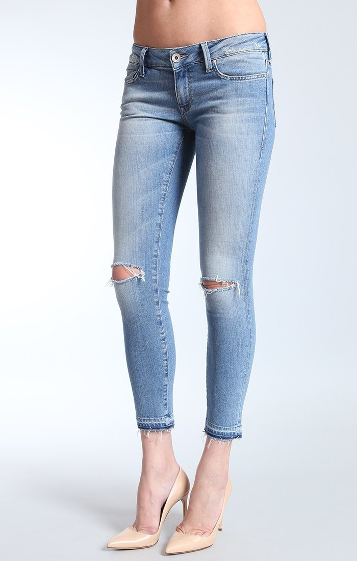 ALEXA ANKLE SKINNY  IN LT DESTRUCTED VINTAGE - Mavi Jeans