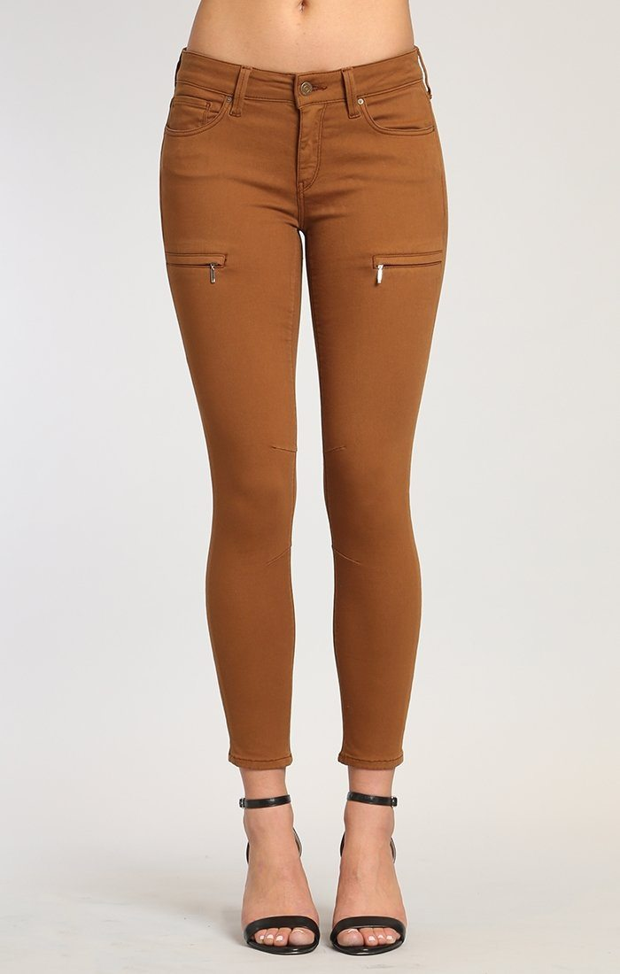 KARLINA SKINNY CARGO IN BRONZE BROWN TWILL