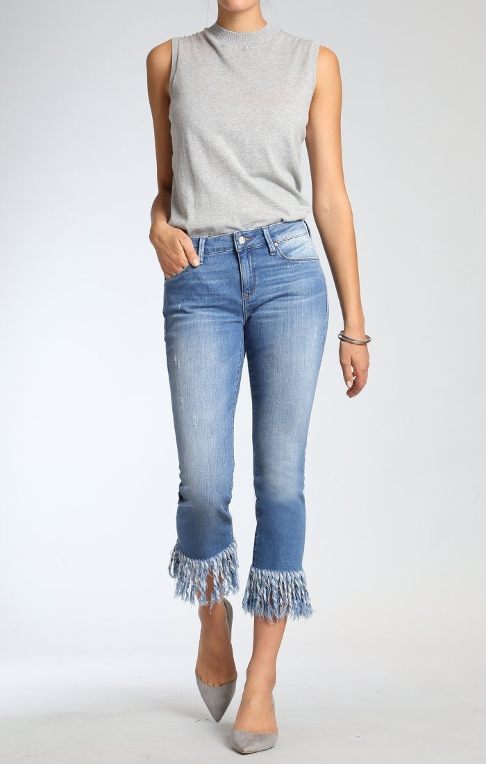 KERRY ANKLE STRAIGHT LEG  IN DISTRESSED VINTAGE - Mavi Jeans