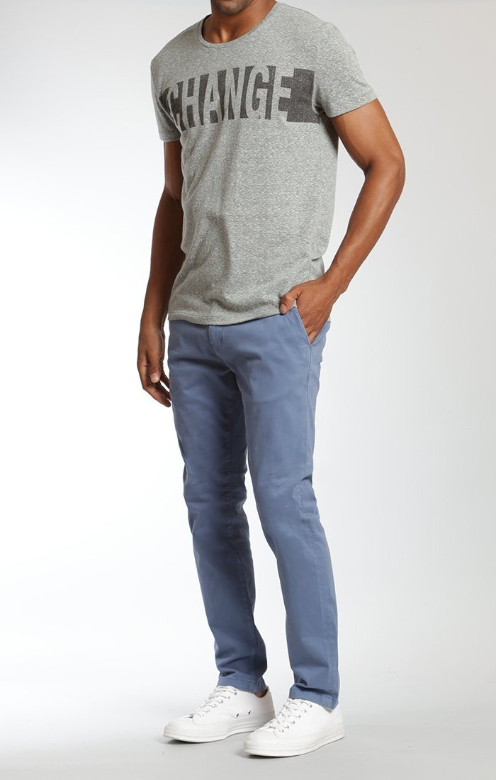 JOHNNY SLIM LEG CHINO IN BLUE HORIZON TWILL