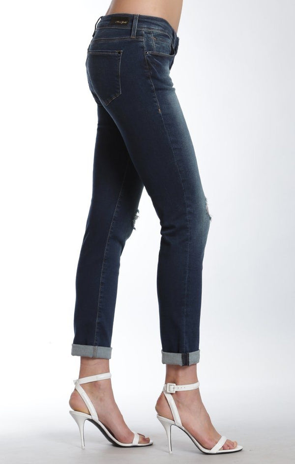 EMMA SLIM BOYFRIEND IN SHADED RIPPED GOLD POP STAR - Mavi Jeans