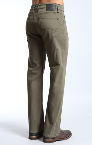 ZACH STRAIGHT LEG IN OLIVE TWILL - Mavi Jeans