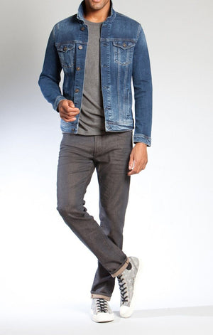 FRANK JACKET IN RIPPED & REPAIRED COMFORT - Mavi Jeans
