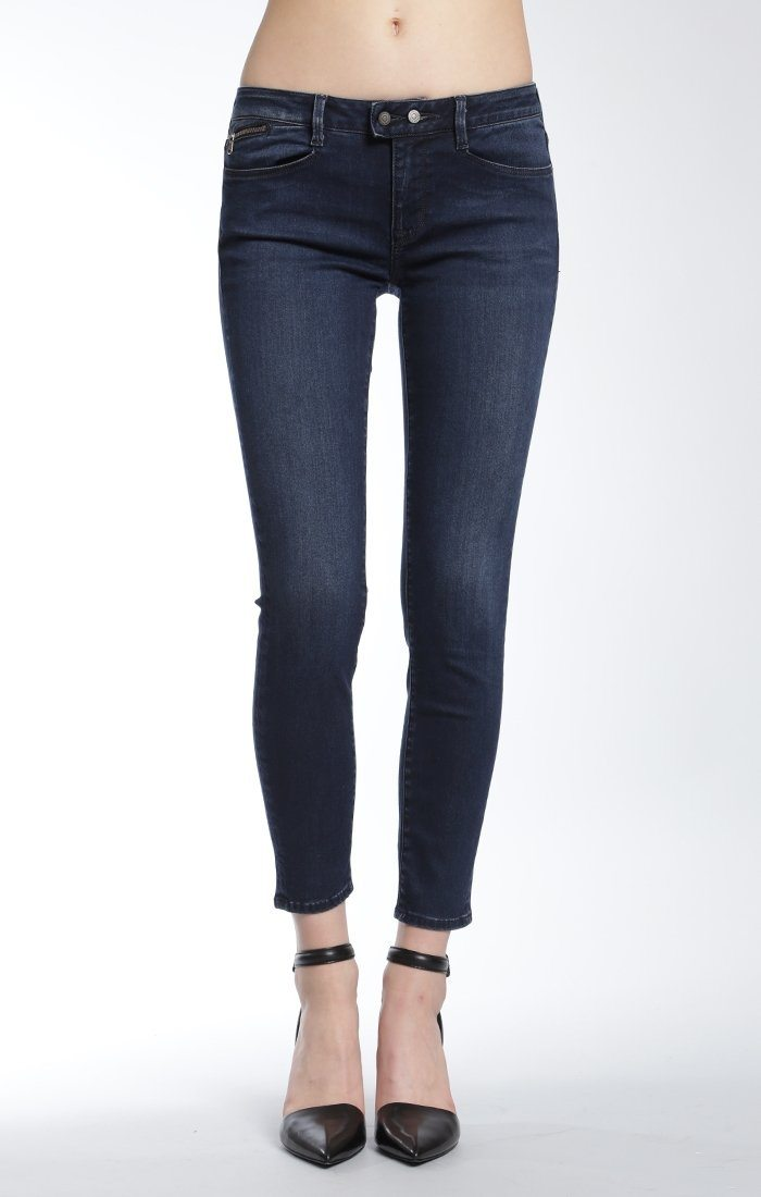 ADRIANA ANKLE SUPER SKINNY  IN INK INDIGO STR