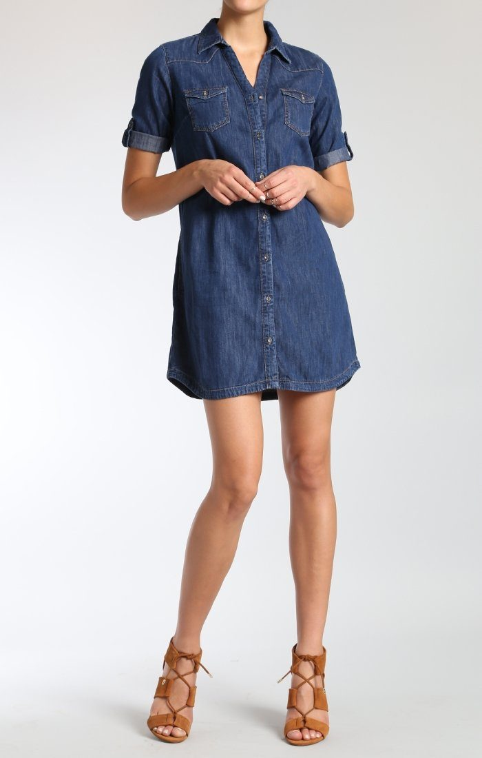 BREE DRESS IN MID INDIGO - Mavi Jeans