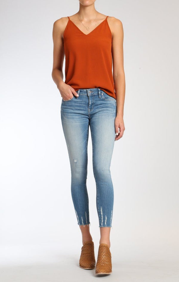 ADRIANA ANKLE SUPER SKINNY  IN LT SHADED GLAM - Mavi Jeans