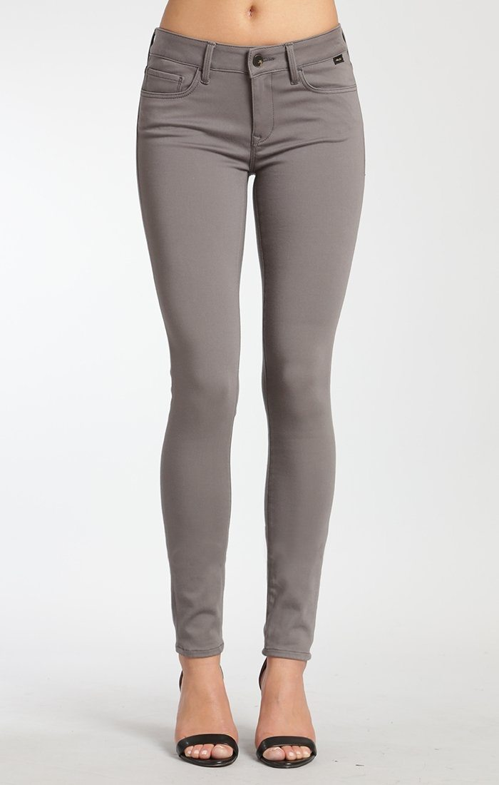ADRIANA SUPER SKINNY IN SMOKE GOLD SATEEN