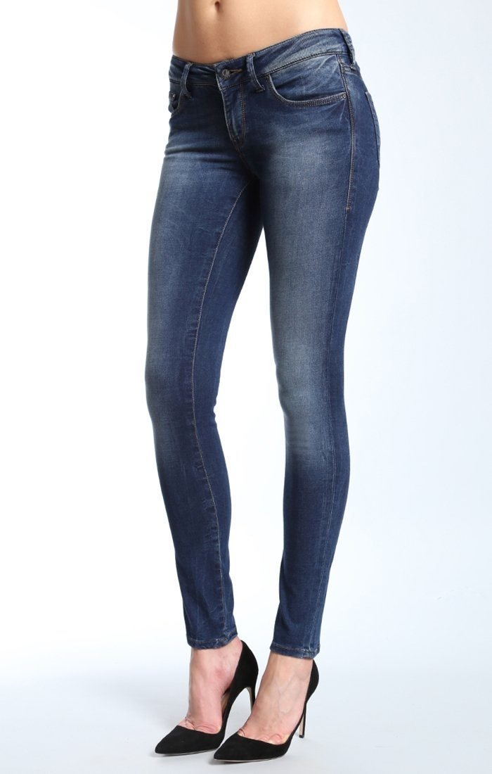SERENA SUPER SKINNY IN USED SOFT SHANTI - Mavi Jeans