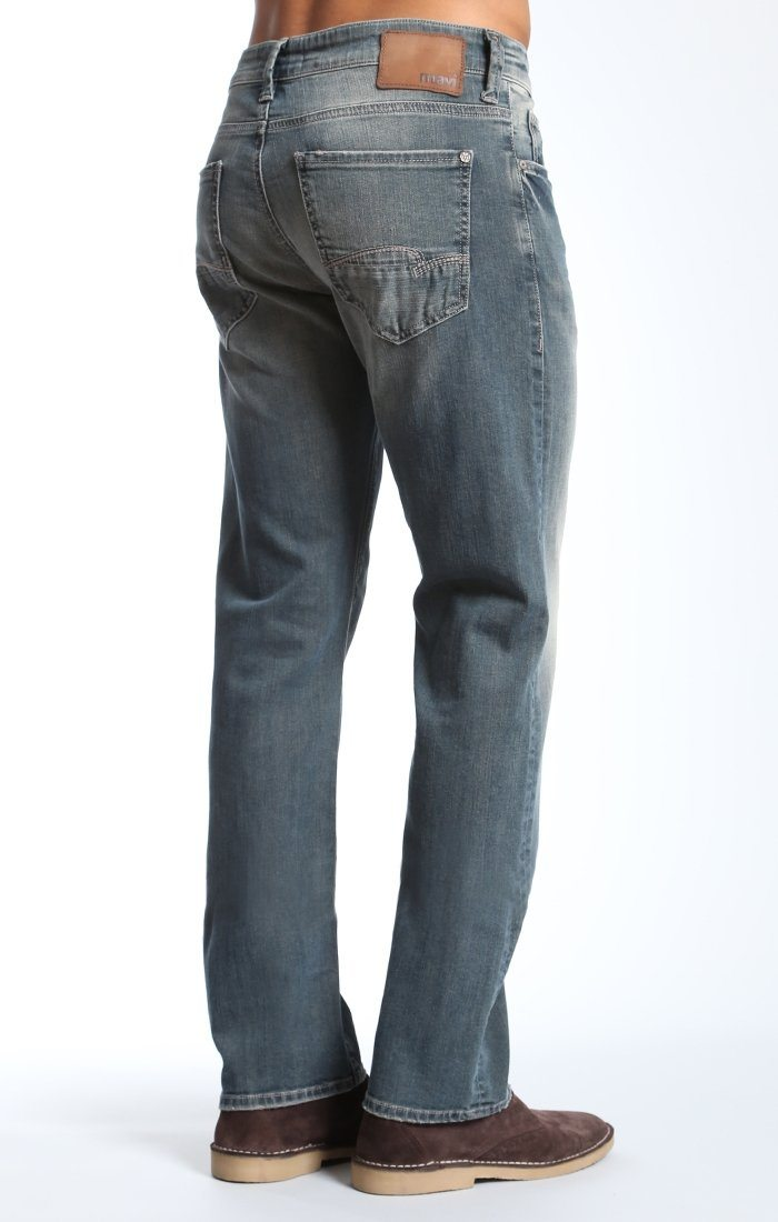 ZACH STRAIGHT LEG IN USED GREEN CAST - Mavi Jeans
