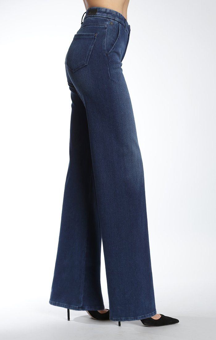 LINDA WIDE LEG IN MID BRUSHED MOVE - Mavi Jeans