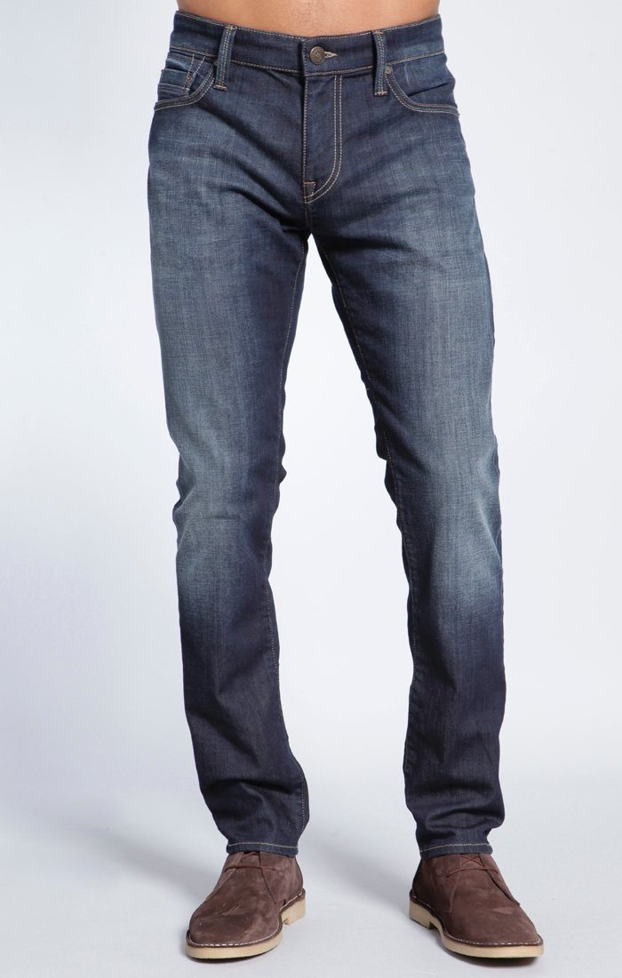 JAKE SLIM LEG IN DARK SHADED YALETOWN - Mavi Jeans