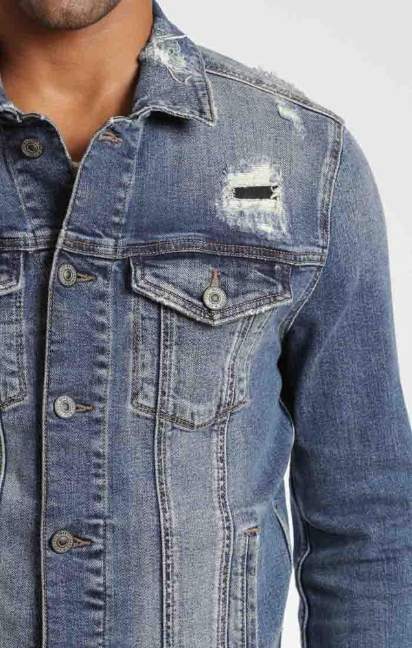 FRANK JACKET IN MID PATCHED - Mavi Jeans