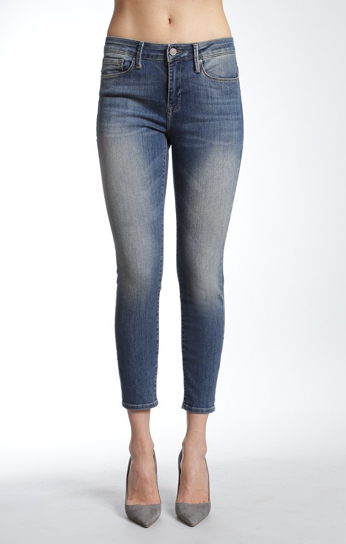 ALISSA ANKLE SUPER SKINNY  IN USED TRIBECA - Mavi Jeans